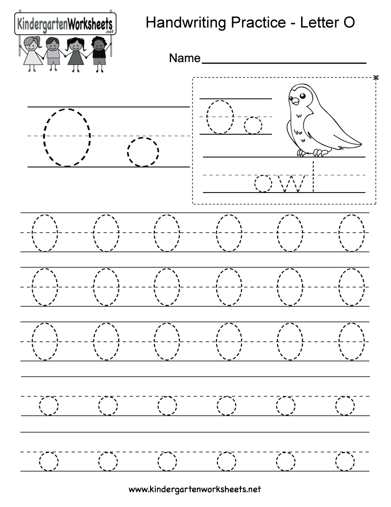 Letter O Writing Practice Worksheet - Free Kindergarten intended for Letter O Worksheets For Kindergarten Free