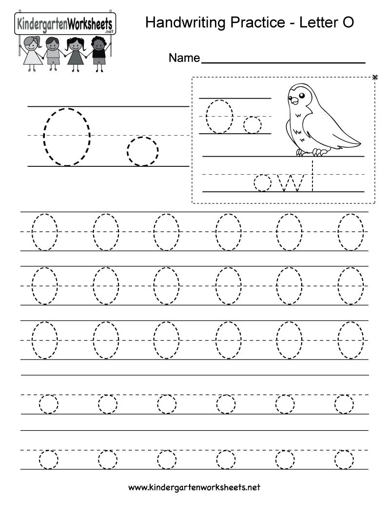 Letter O Writing Practice Worksheet - Free Kindergarten with Letter O Worksheets Free Printable