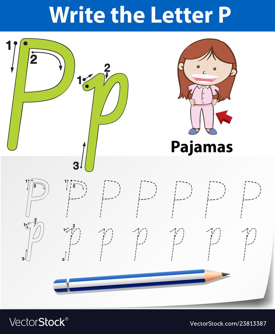 Letter P Tracing Alphabet Worksheets intended for Letter P Alphabet Worksheets