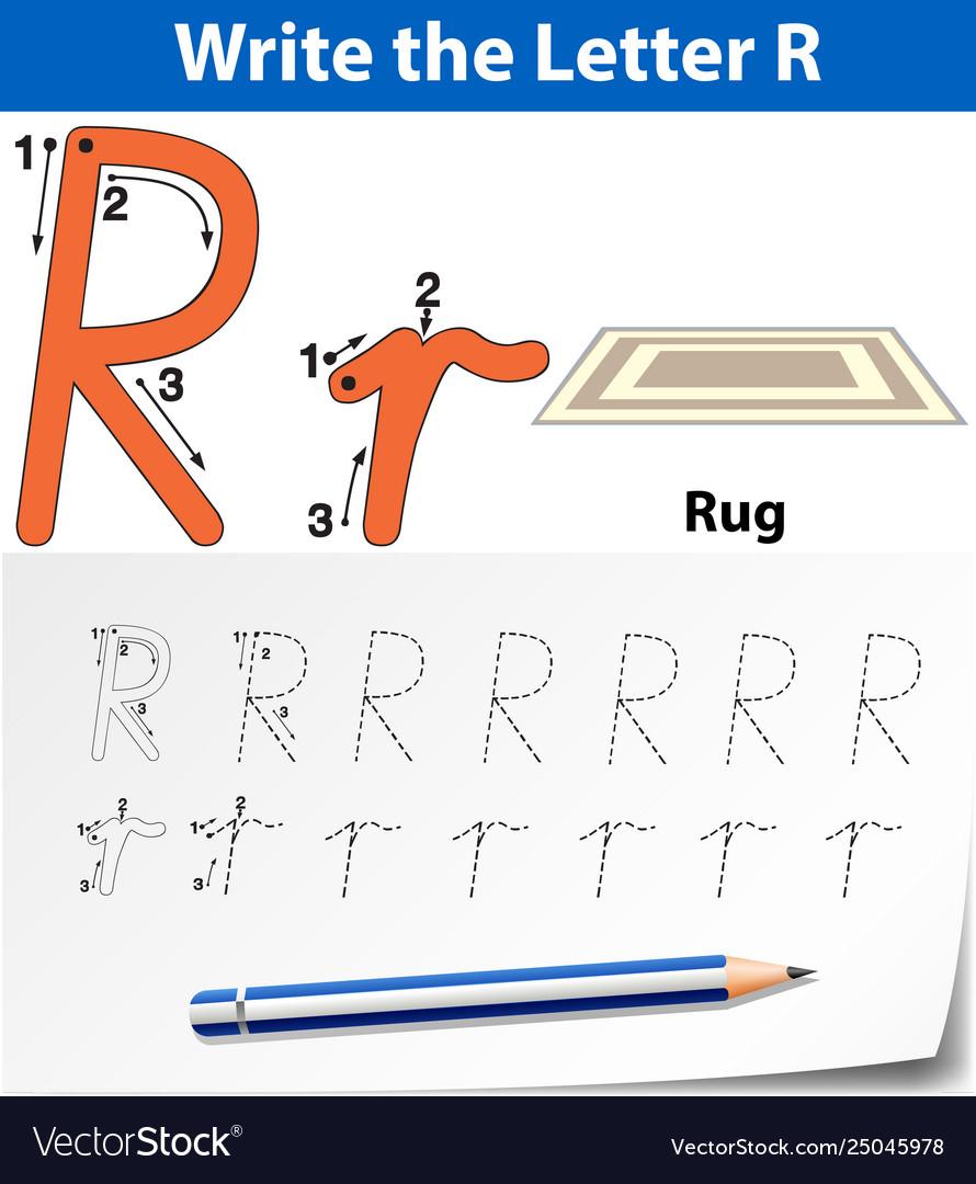 Letter R Tracing Alphabet Worksheets for Letter R Worksheets Pdf