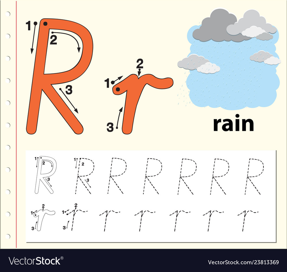 Letter R Tracing Alphabet Worksheets inside R Letter Worksheets