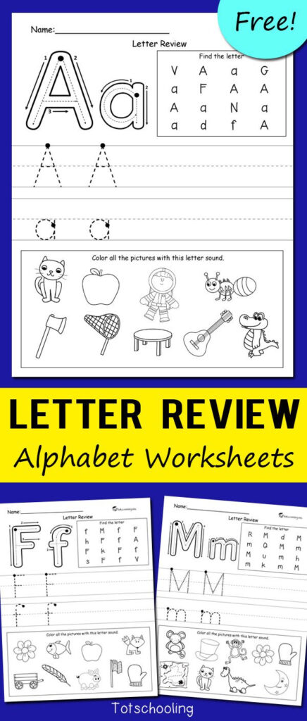 Letter Review Alphabet Worksheets | Deutsch | Pinterest Pertaining To Letter F Worksheets Pinterest