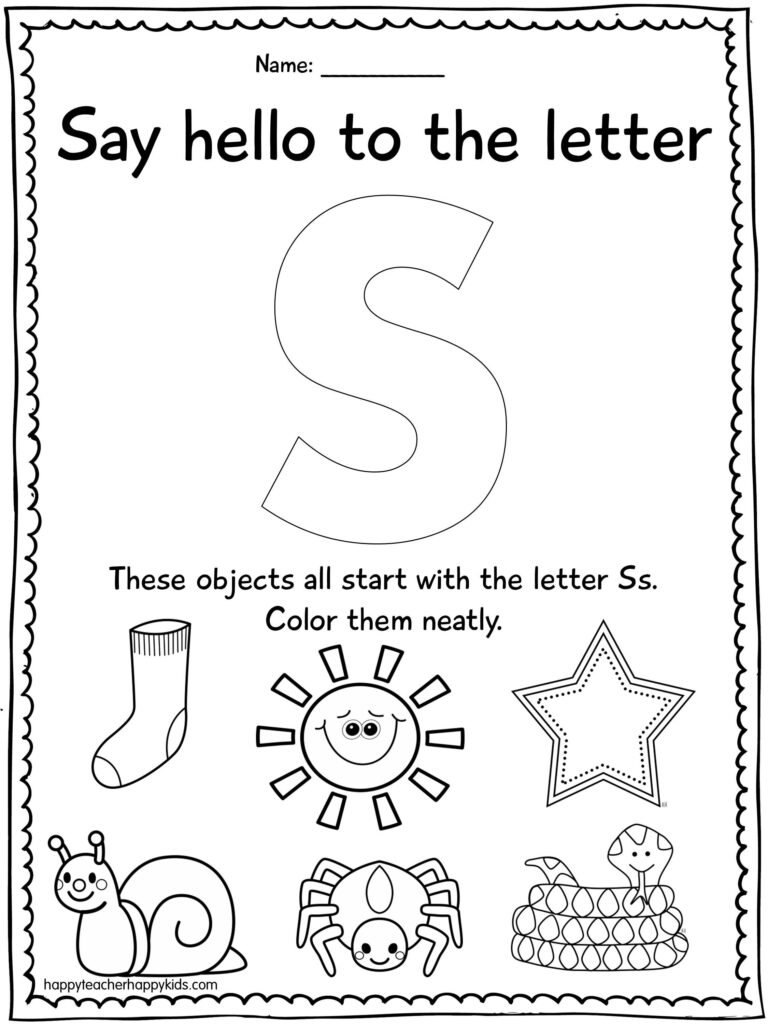Letter S | Letter S Worksheets, Preschool Letters, Preschool Pertaining To Letter S Worksheets For Kindergarten