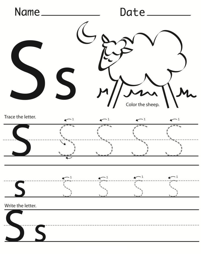Letter S Worksheets Printable | Free Handwriting Worksheets Intended For Letter S Worksheets Printable