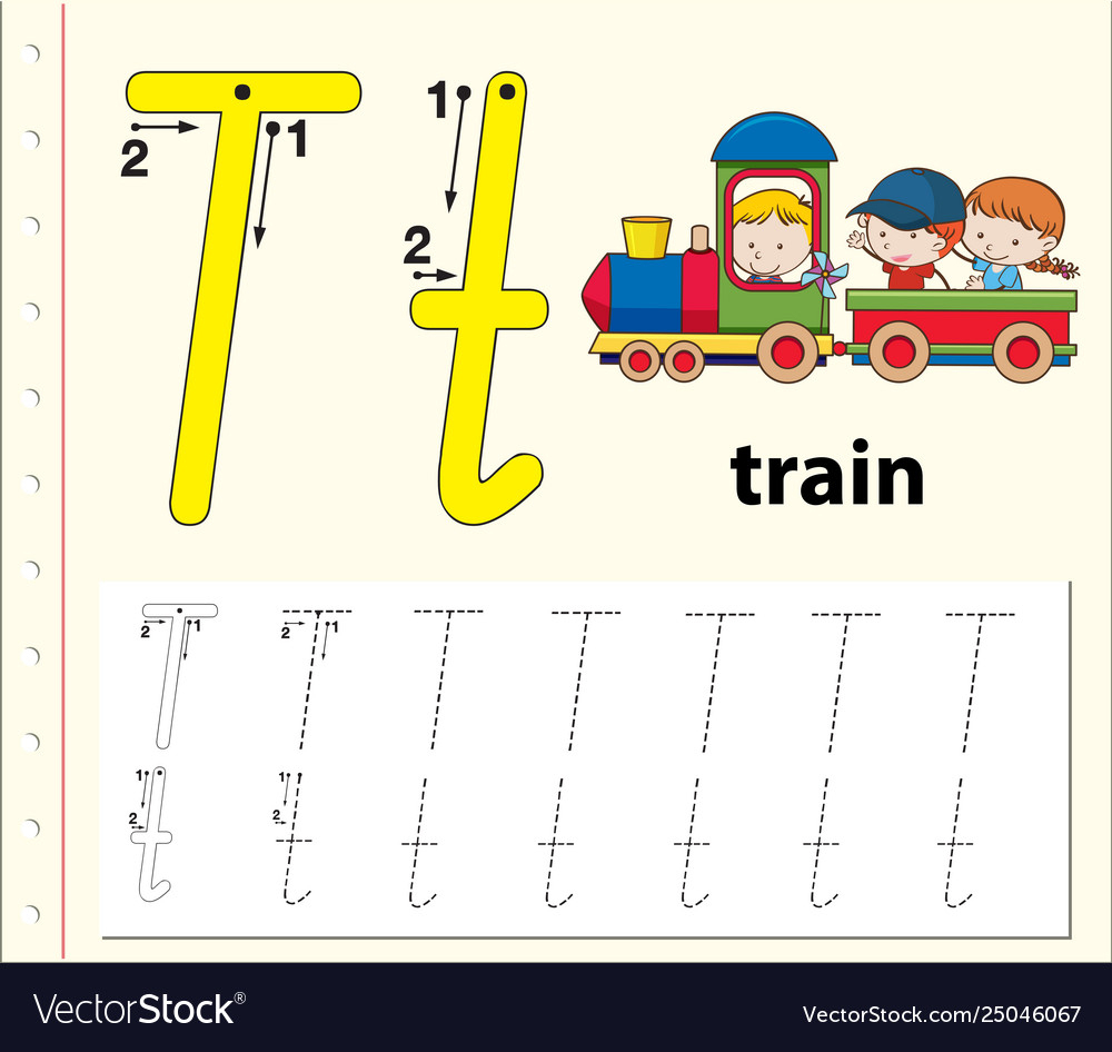 Letter T Tracing Alphabet Worksheets with regard to Alphabet Worksheets With Pictures