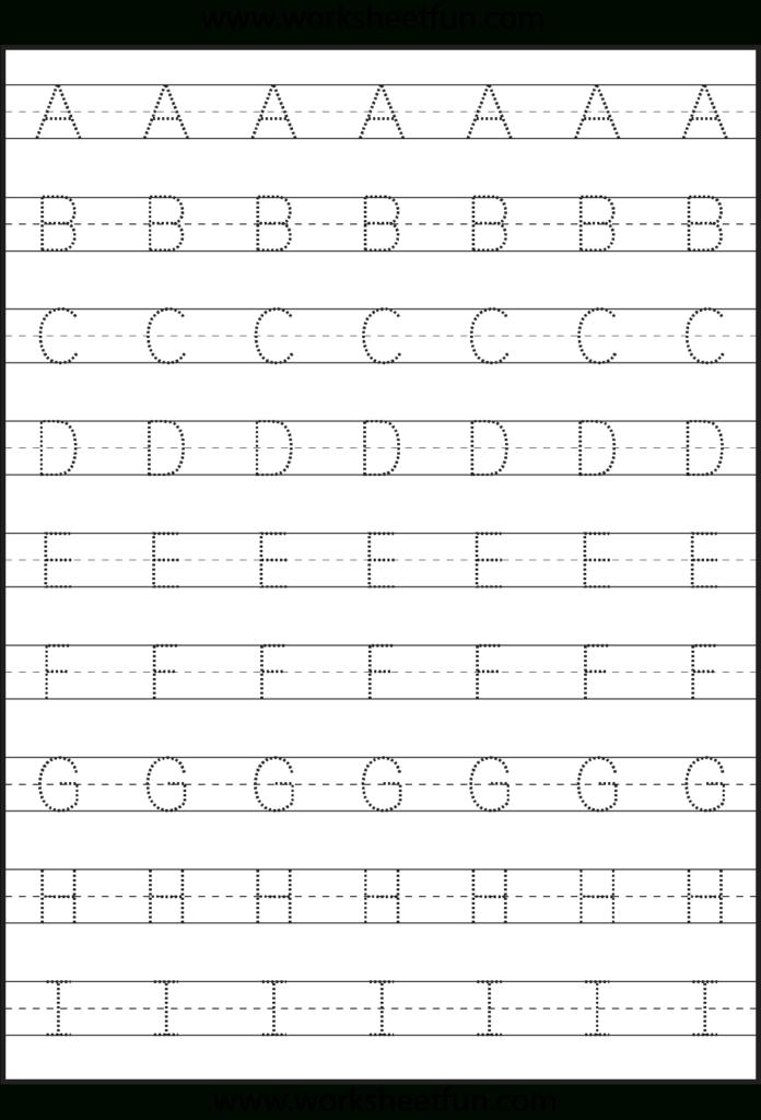 Letter Tracing   3 Worksheets | Kids Math Worksheets For Alphabet Worksheets Capital