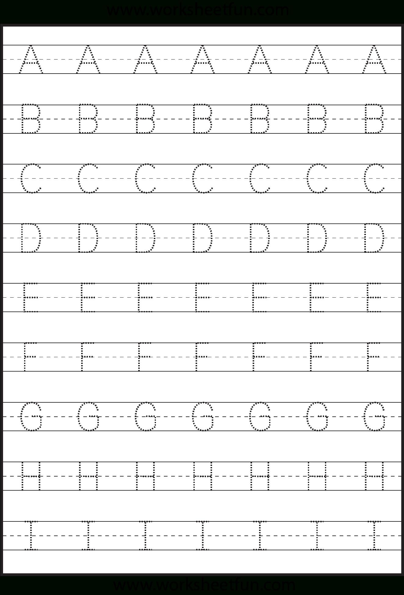 Letter Tracing - 3 Worksheets | Kids Math Worksheets for Alphabet Worksheets Capital