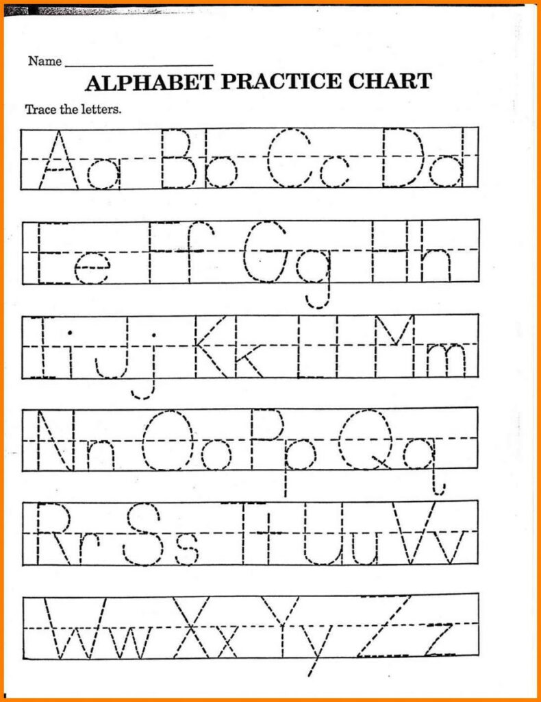 Letter Tracing Has Loads Of Printable Worksheets Free In Kindergarten Alphabet Worksheets