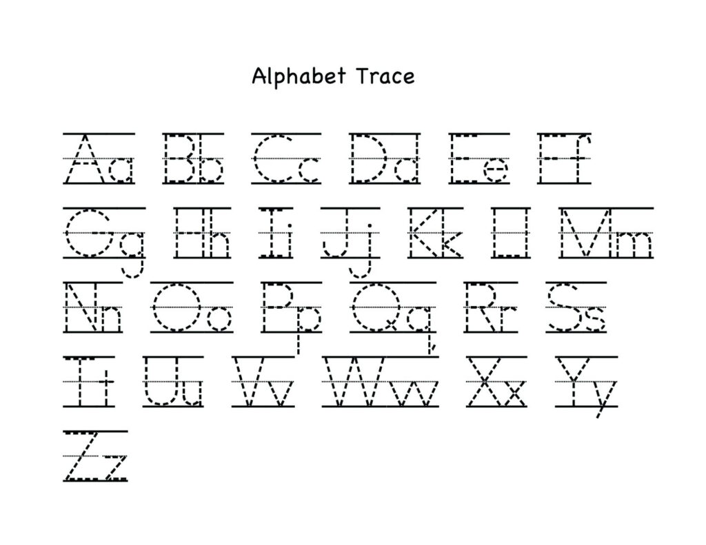 Letter Tracing Worksheets Uppercase And Lowercase Letters Intended For Alphabet Tracing Worksheets For Kindergarten
