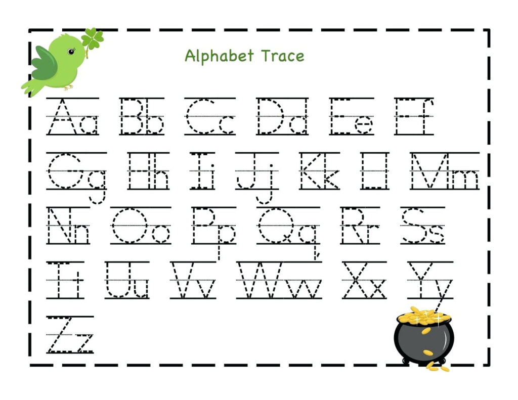 Letter Tracing Worksheets Uppercase And Lowercase Letters With Regard To A Z Alphabet Worksheets Kindergarten
