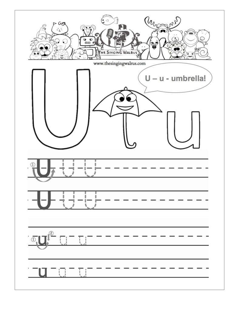 Letter U Worksheets. Common Worksheets Letter U Worksheet Throughout Letter U Worksheets Handwriting Kindergarten