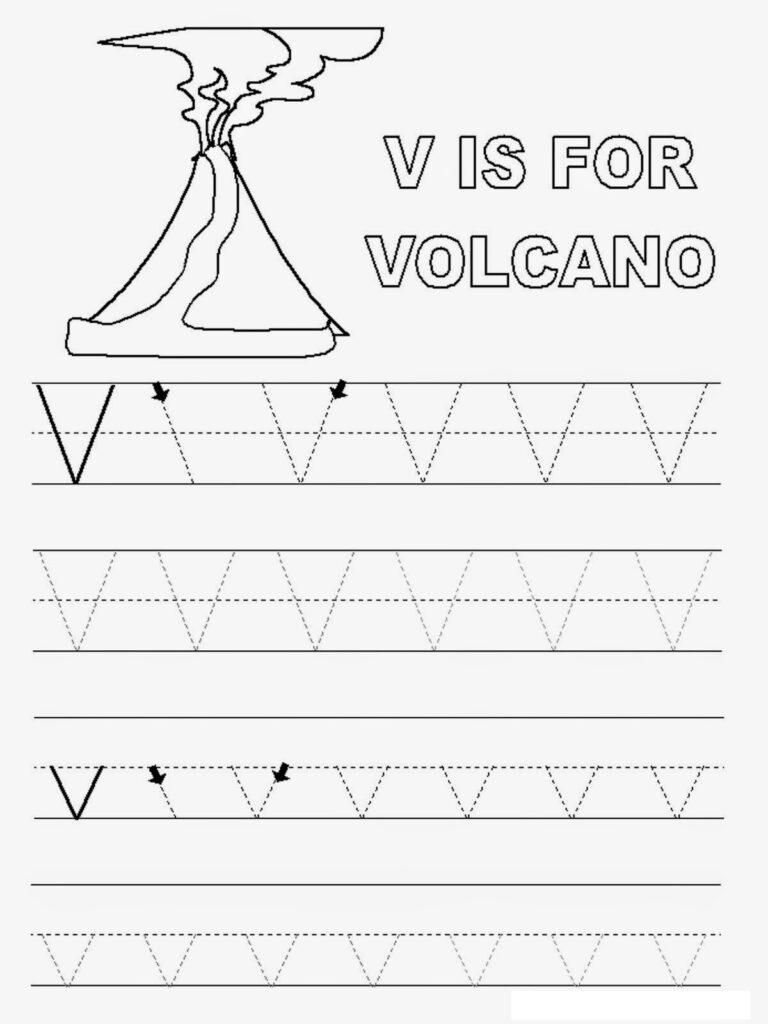Letter V Worksheets To Print   Activity Shelter For Letter V Worksheets For Preschoolers