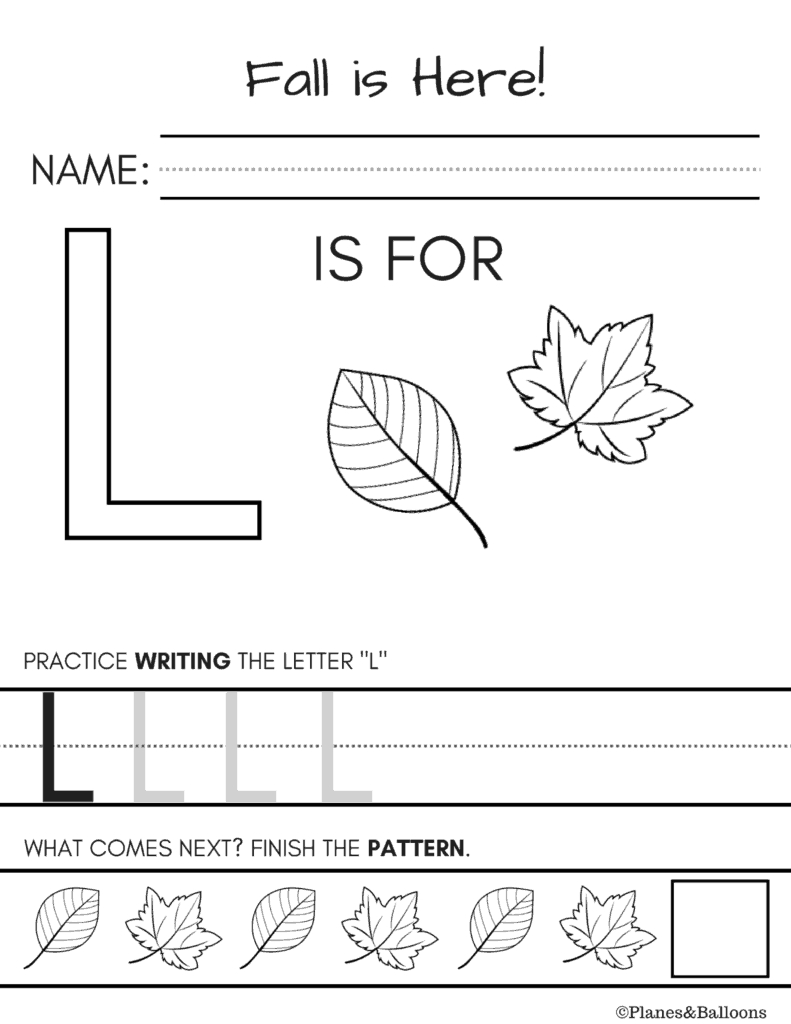Letter Worksheets For Kindergarten Handwriting And L Pdf pertaining to Letter L Worksheets Pdf