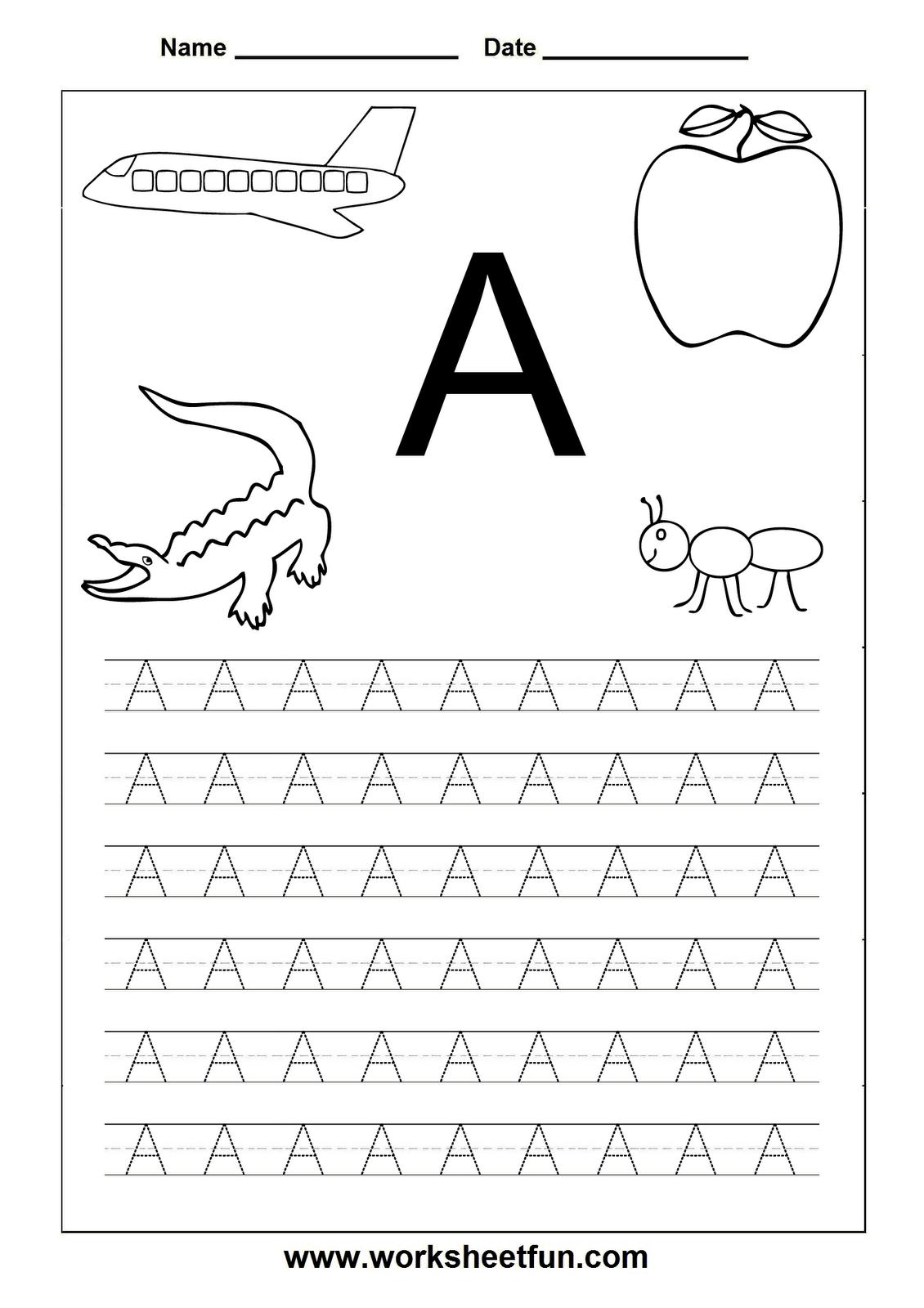 Letter Worksheets For Kindergarten Printable   Tracing for Letter Worksheets Kindergarten Free