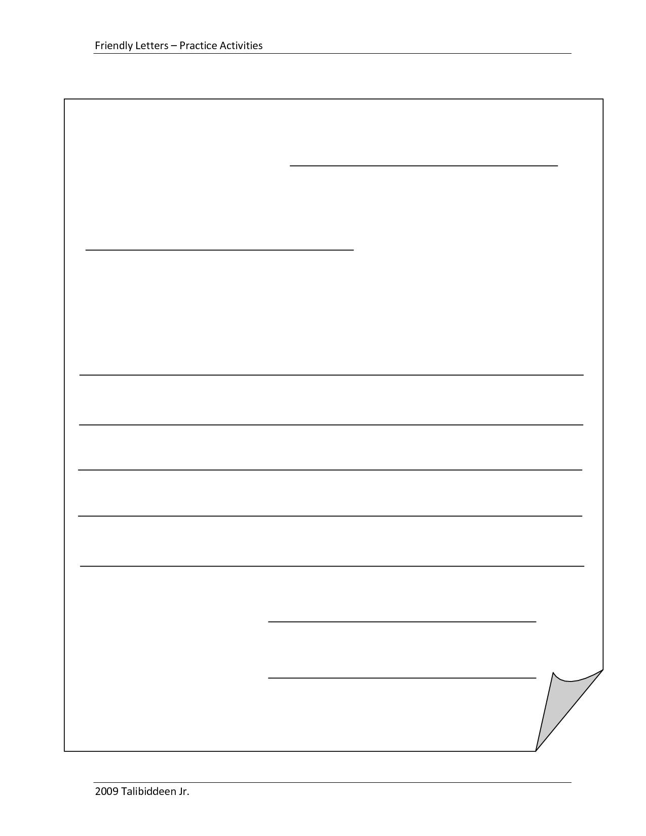 Letter Writing Template Printable - Ikez.brynnagraephoto inside Letter S Worksheets Sparklebox