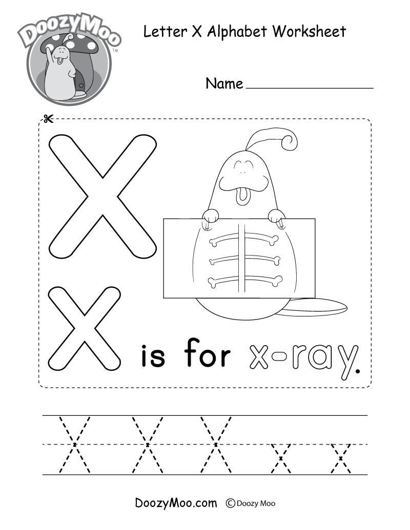 Letter X Alphabet Activity Worksheet - Doozy Moo for Letter X Worksheets For Kindergarten
