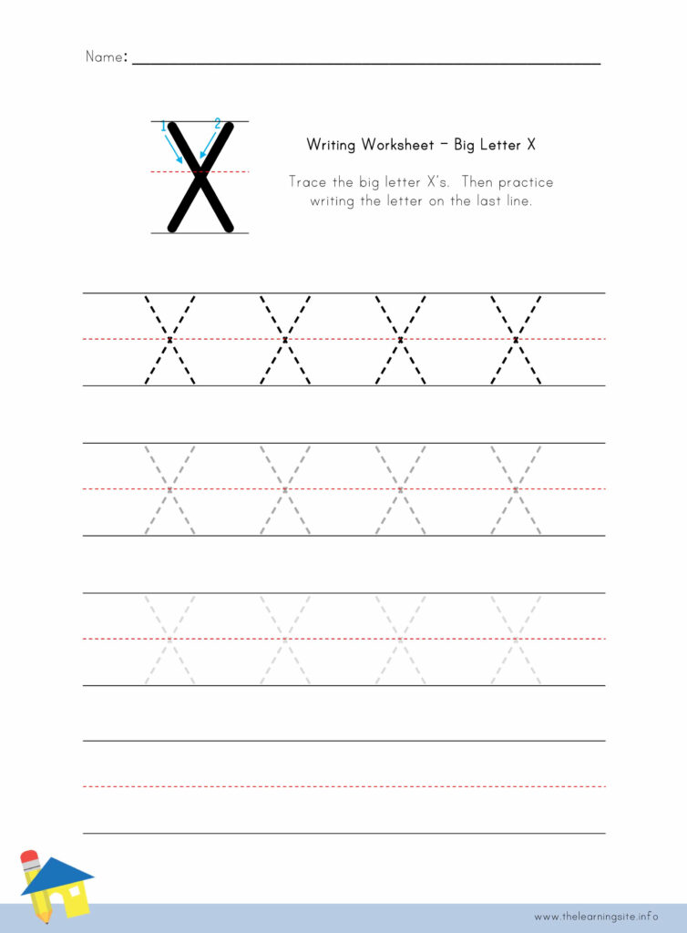 Letter X Practice Worksheet | Printable Worksheets And With Regard To Letter X Worksheets For Kindergarten