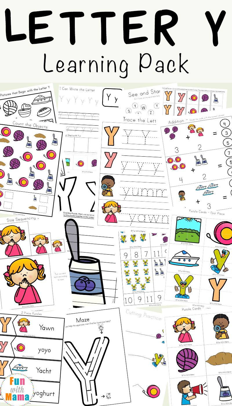 Letter Y Worksheets For Preschool + Kindergarten | Letter Y for Letter Y Worksheets Easy Peasy