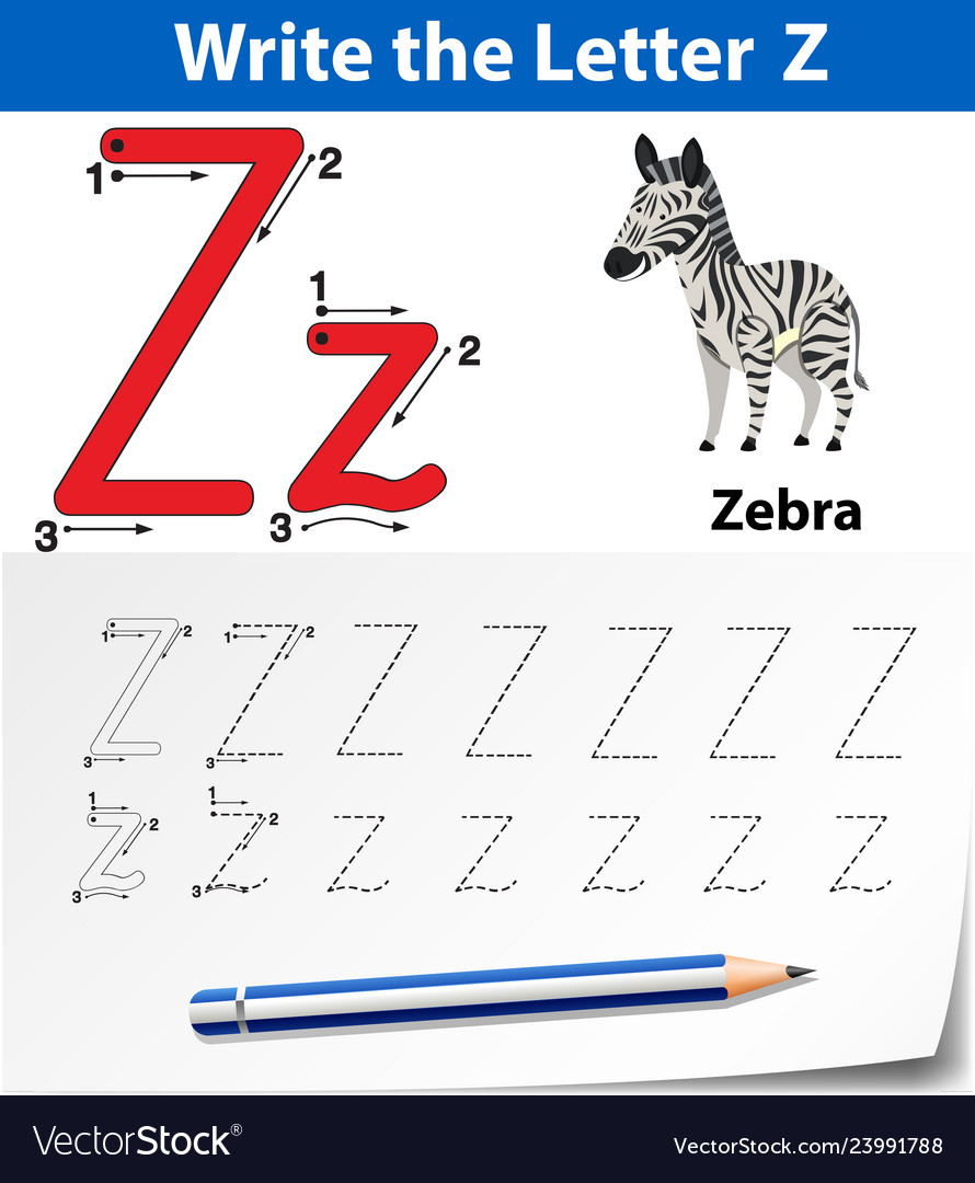 Letter Z Tracing Alphabet Worksheets for Letter Z Worksheets Free