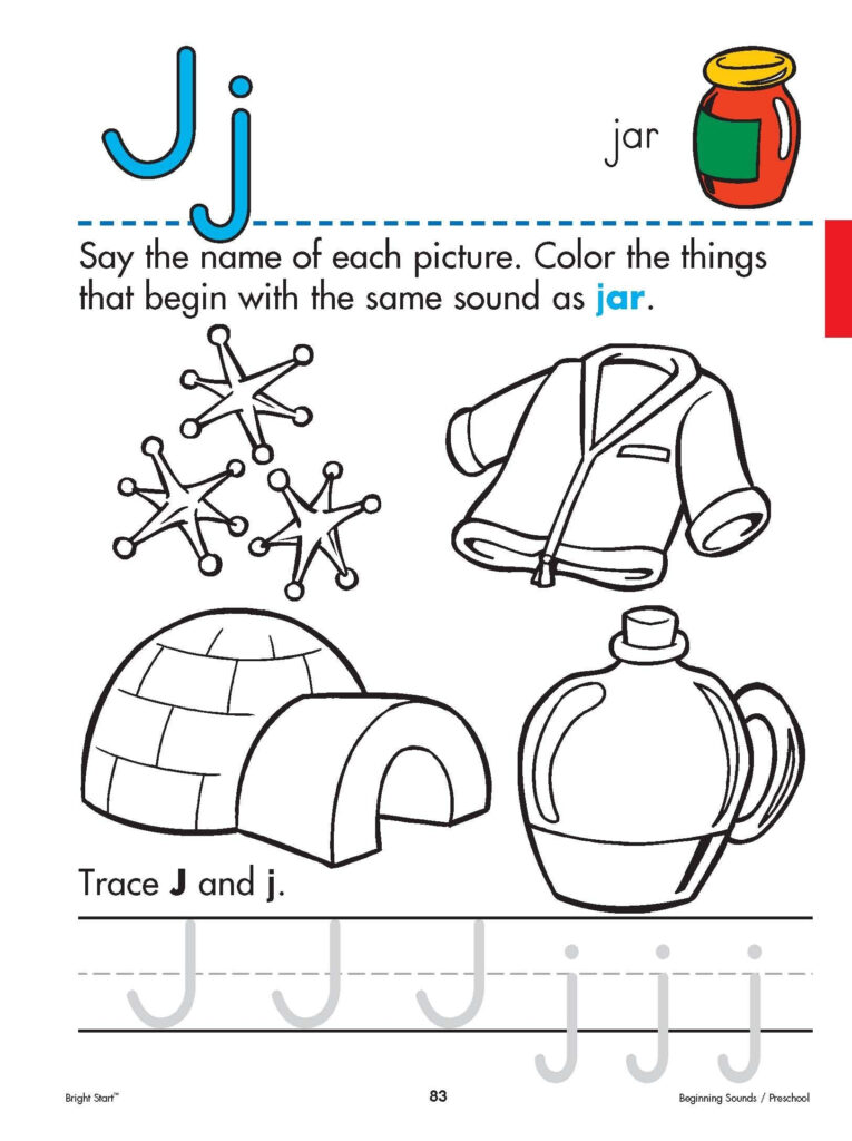 Letter+J+Worksheet+For+Preschool | Free Shipping On All In Letter J Worksheets Easy