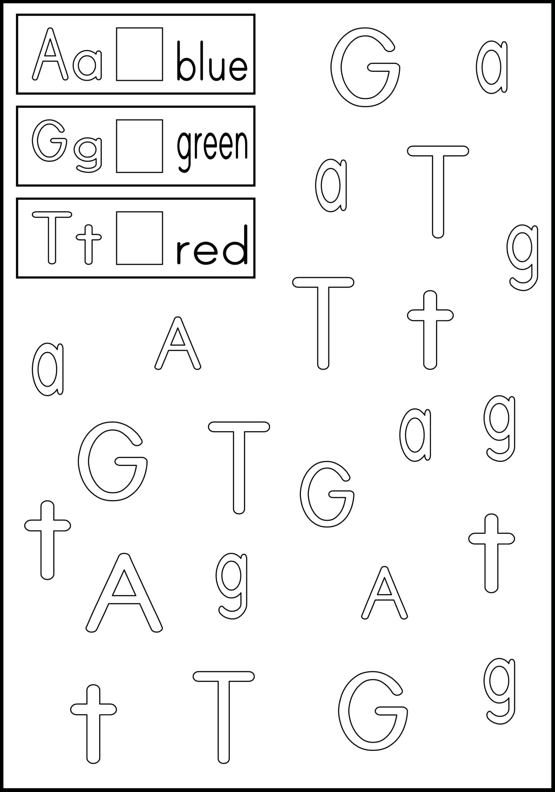 Link To Letter Recognition Worksheets - Color The Boxes Next intended for Alphabet Recognition Worksheets For Kindergarten