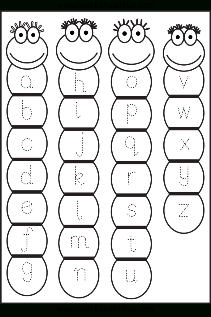 Lowercase Letter Tracing Worksheet | U.k.g | Tracing In Alphabet Worksheets For Ukg