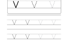 Letter V Worksheets For Preschoolers