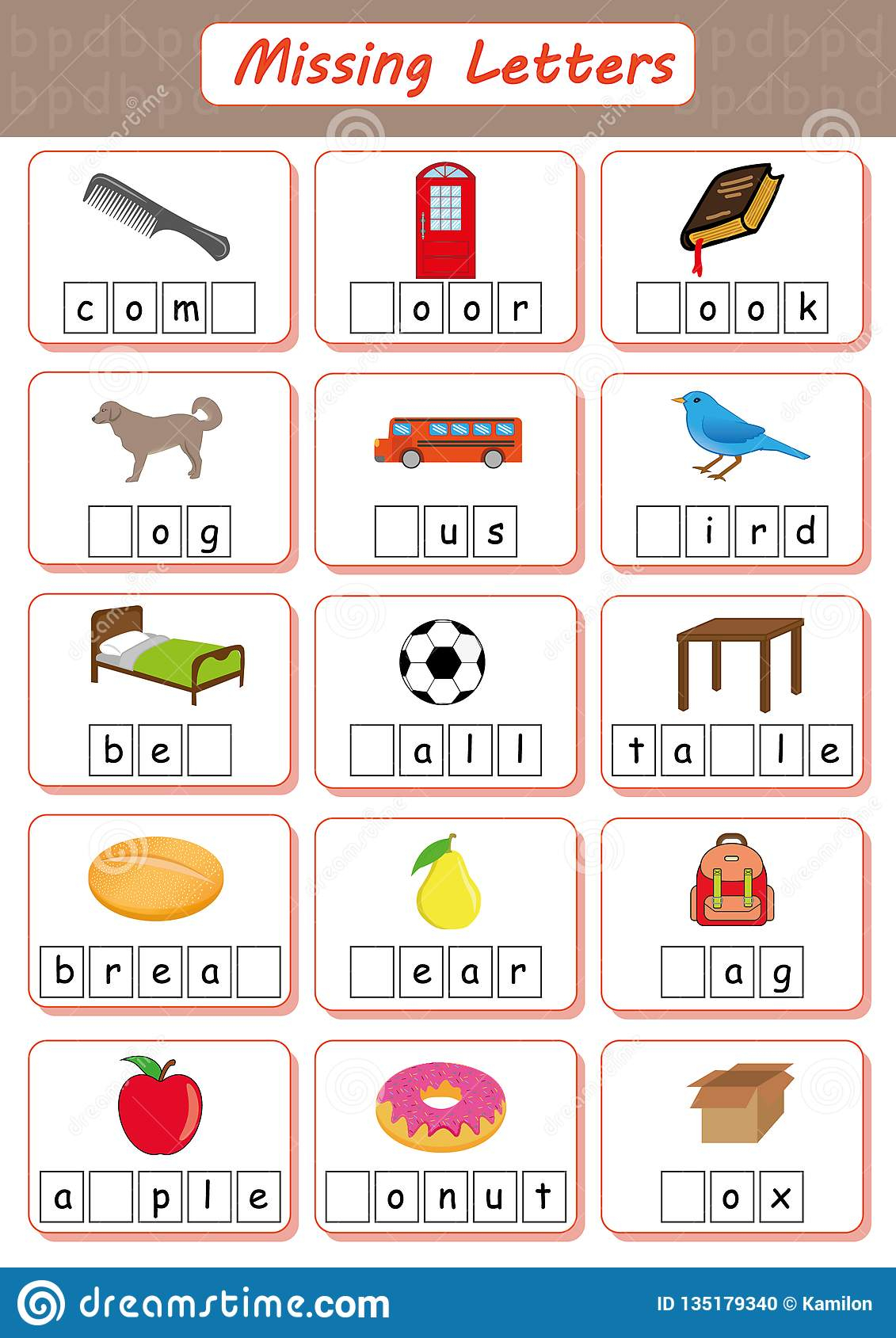 Missing Letters, Find The Missing Letters And Write Them In for Alphabet Worksheets For Dyslexia