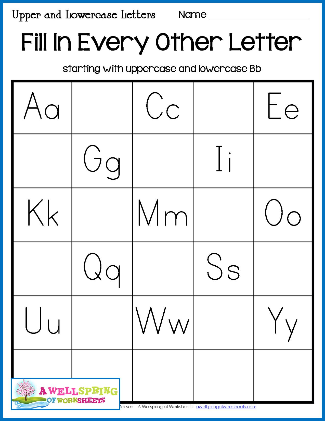 Missing Letters Worksheets | English Worksheets For in Alphabet Worksheets Fill In The Missing Letter