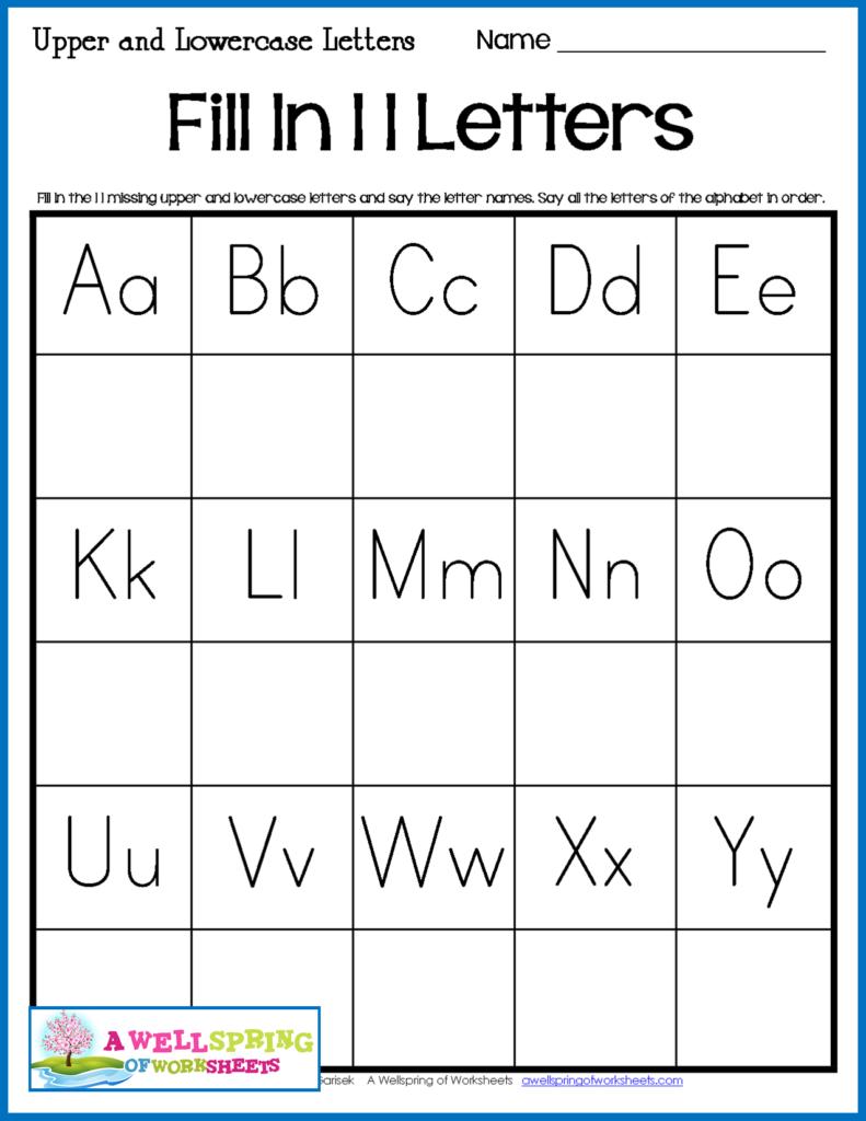 Missing Letters Worksheets | Letter Worksheets, Missing With Alphabet Worksheets With Missing Letters