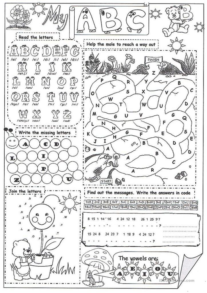 My Abc   English Esl Worksheets Pertaining To The Alphabet Worksheets Esl
