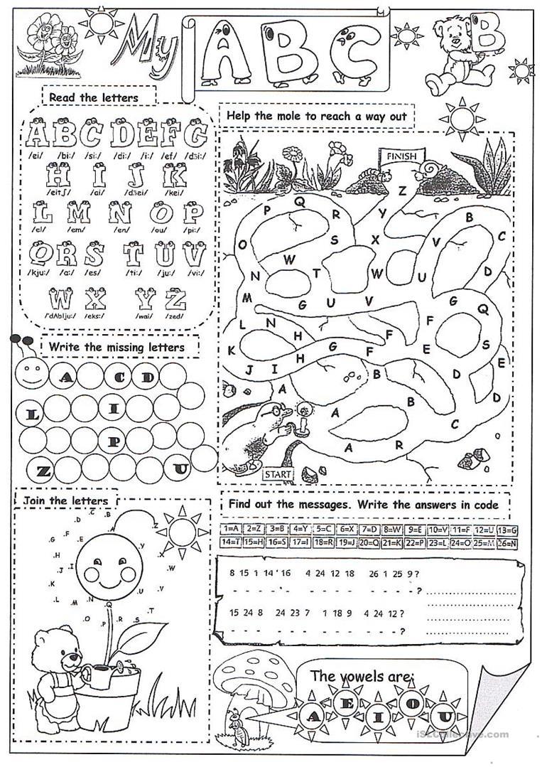 My Abc - English Esl Worksheets pertaining to The Alphabet Worksheets Esl