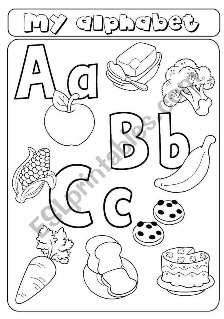 My Alphabet   Letters A B C   Food   Esl Worksheetasia1978 With Letter I Alphabet Worksheets