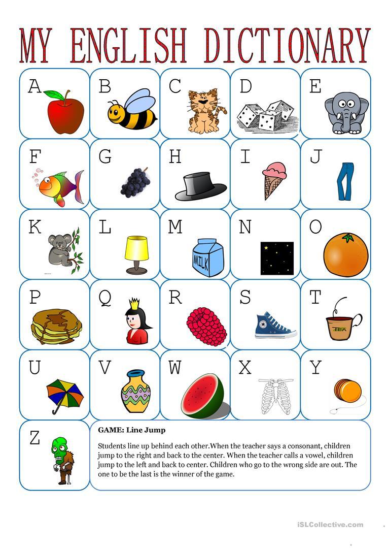My English Alphabet - English Esl Worksheets within Alphabet Worksheets With Pictures