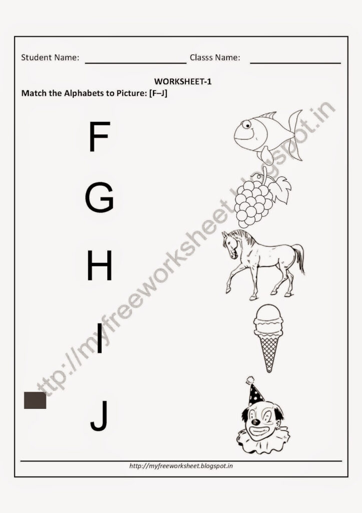 My Free Worksheet: Free Printable Worksheets For Nursery For Alphabet Matching Worksheets For Nursery