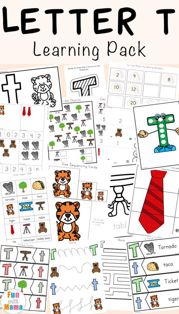 Nursery Worksheets Pdf Kids Letter T For Preschool And With Regard To Letter T Worksheets For Kindergarten Pdf