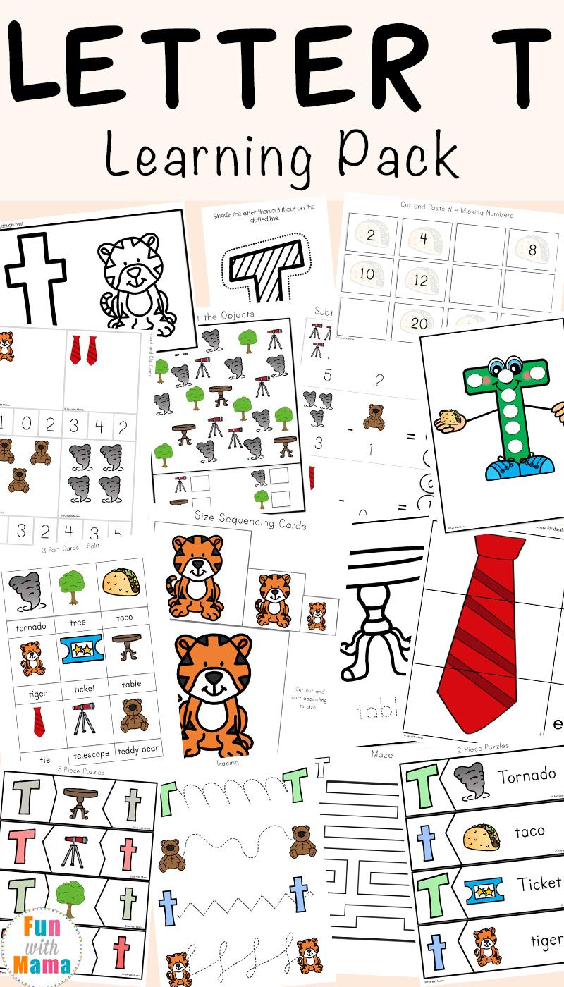 Nursery Worksheets Pdf Kids Letter T For Preschool And with regard to Letter T Worksheets For Kindergarten Pdf