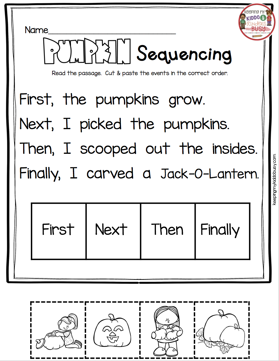 October Math And Literacy Pack - Freebies | Kindergarten pertaining to Alphabet Sequencing Worksheets For Kindergarten