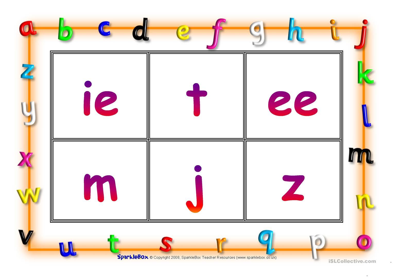 Phonic Bingo - English Esl Worksheets for Letter W Worksheets Sparklebox