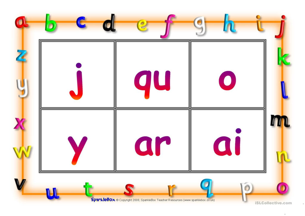 Phonic Bingo   English Esl Worksheets With Regard To Letter J Worksheets Sparklebox