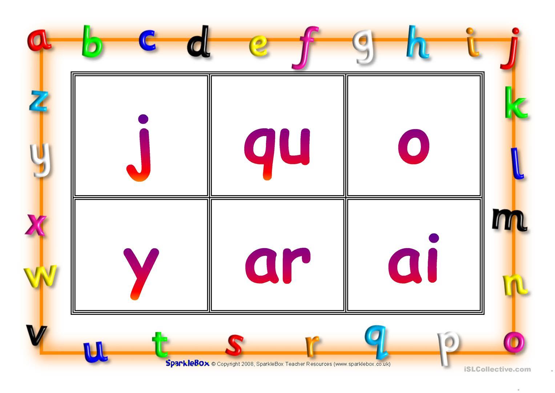 Phonic Bingo - English Esl Worksheets with regard to Letter J Worksheets Sparklebox