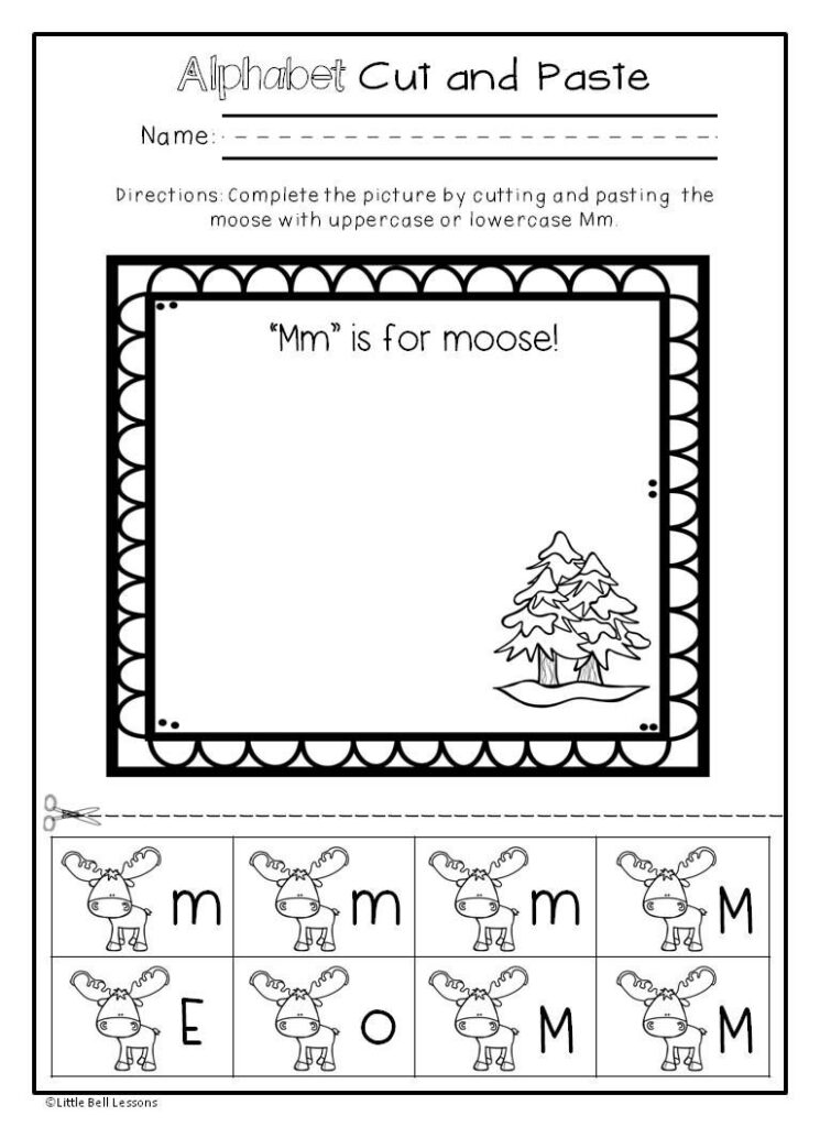 Pin On Letters And Sounds With Regard To Alphabet Worksheets Cut And Paste