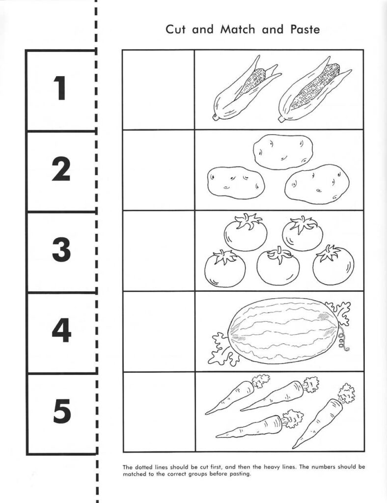Pin On Pre K Math In Letter Matching Worksheets Cut And Paste