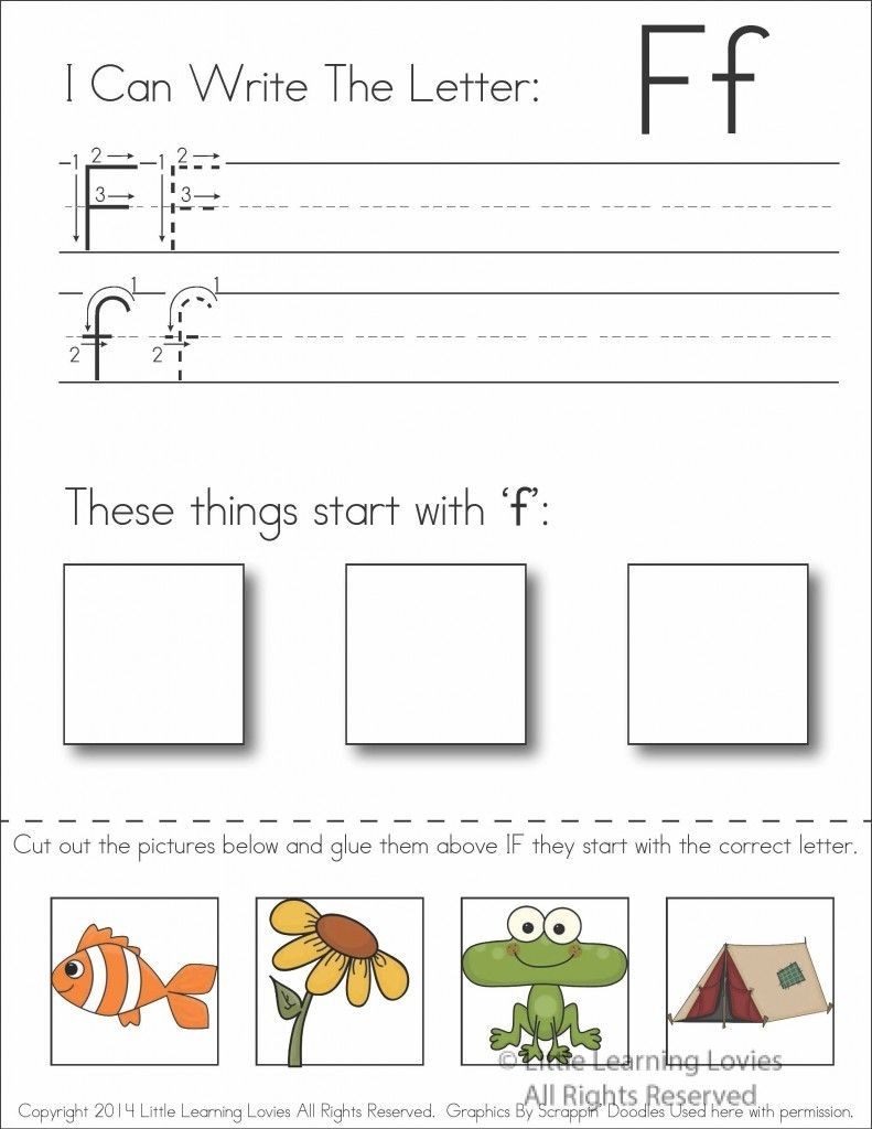 Pin On Preschool Activities with Letter F Worksheets For Grade 1