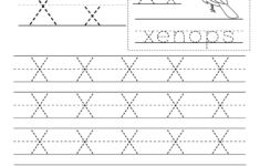 Letter X Worksheets Free