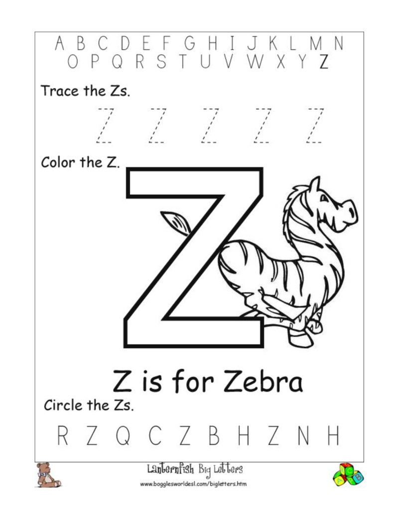 Pinswitty Mae On Projects To Try | Preschool Letters With Letter Z Worksheets For Toddlers