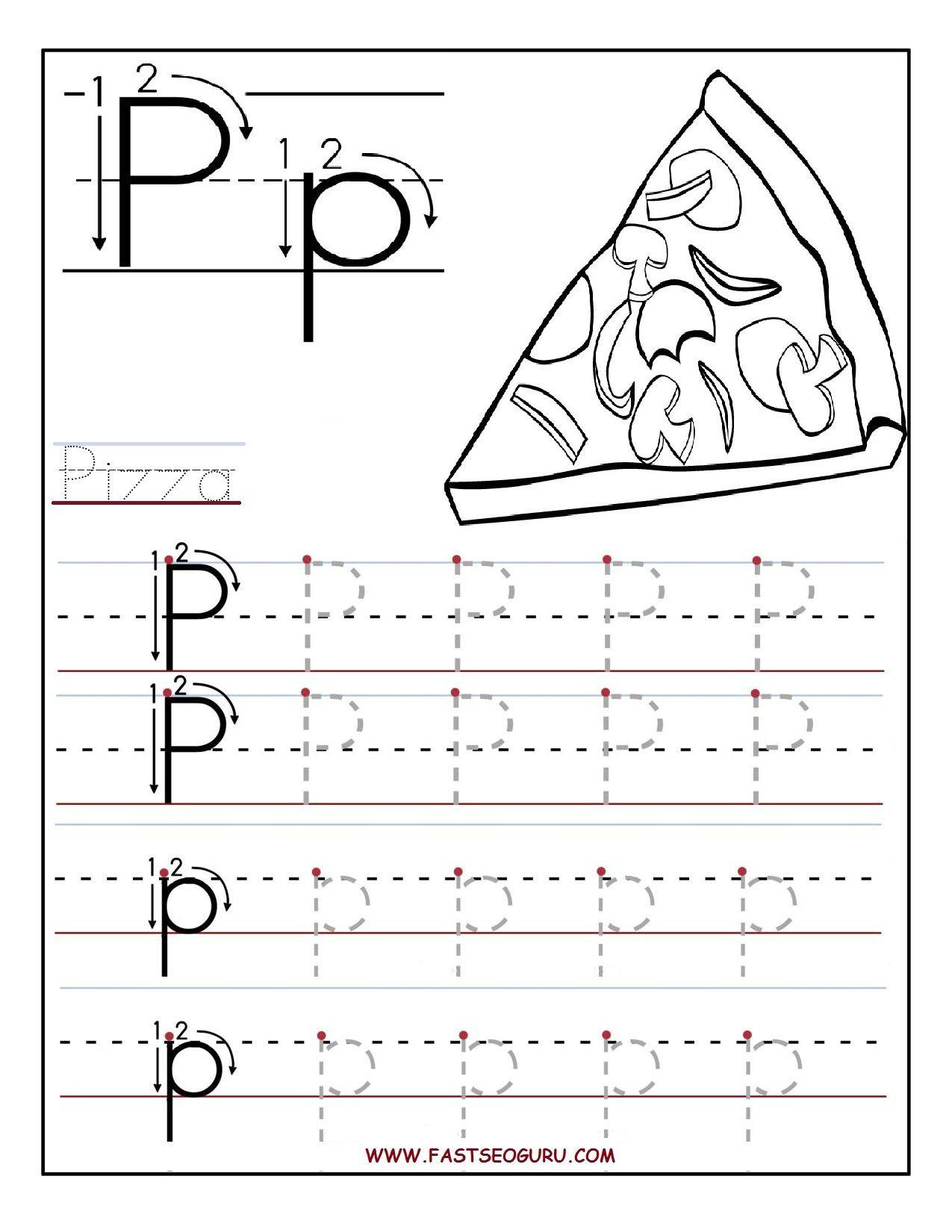 Pinvilfran Gason On Decor | Preschool Worksheets, Letter throughout Letter P Alphabet Worksheets