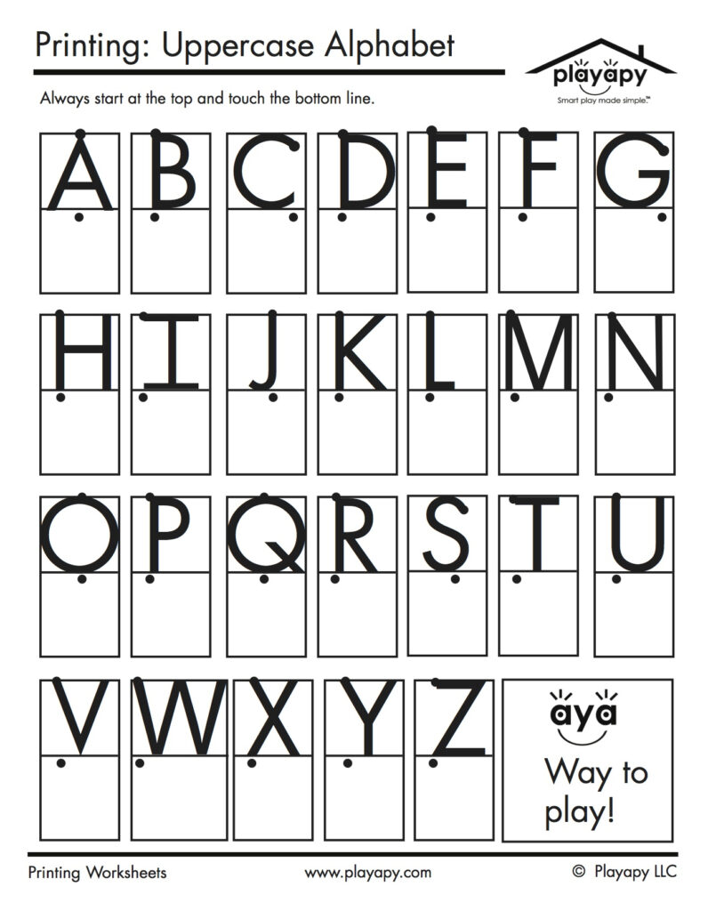 Practice Printables Set Pertaining To Alphabet Copy Worksheets