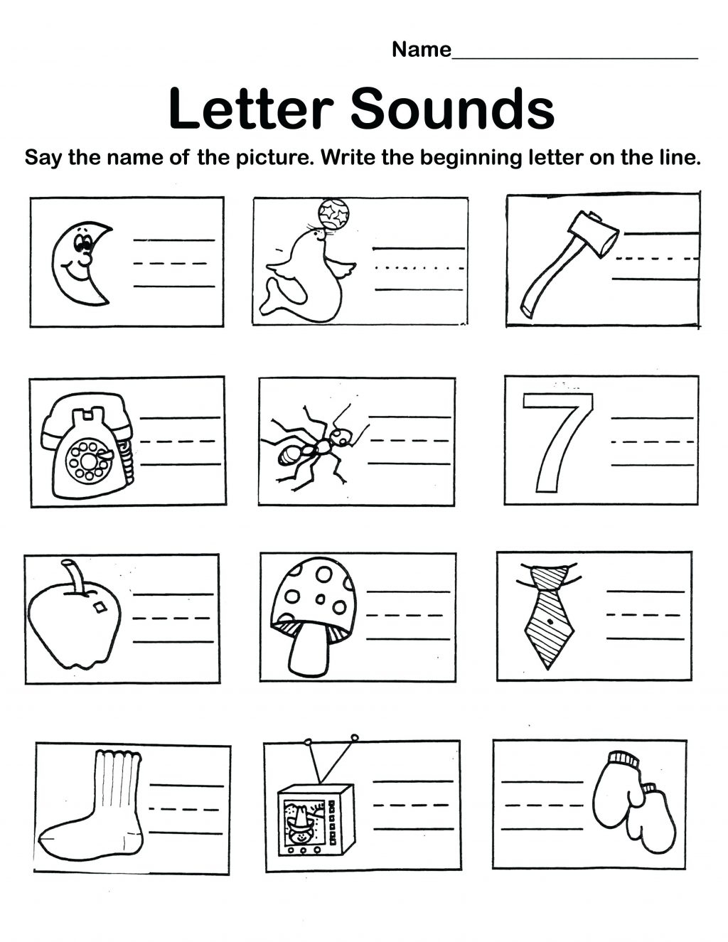 Alphabet Review Worksheets For Pre-K ...