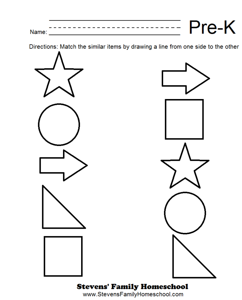 Pre K Matching Worksheets | Pre K Math Worksheets, Free Within Alphabet Math Worksheets Preschool